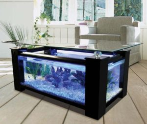 choisissez la table basse aquarium pour un design couper le souffle table basse ronde. Black Bedroom Furniture Sets. Home Design Ideas