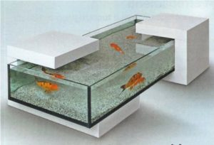 table basse poissons